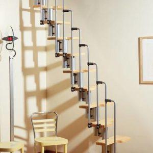 Металлическая компактная лестница на заказ, ЛС-113