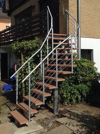 Металлическая наружная модульная лестница, ЛС-118