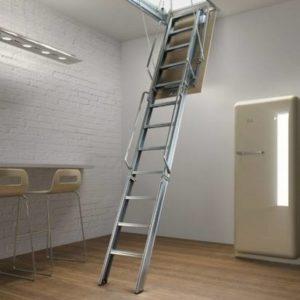 Металлическая переносная чердачная лестница, ЛС-129