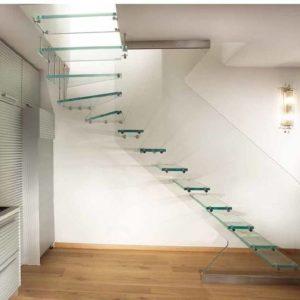 Стеклянная лестница на второй этаж, ЛС-131