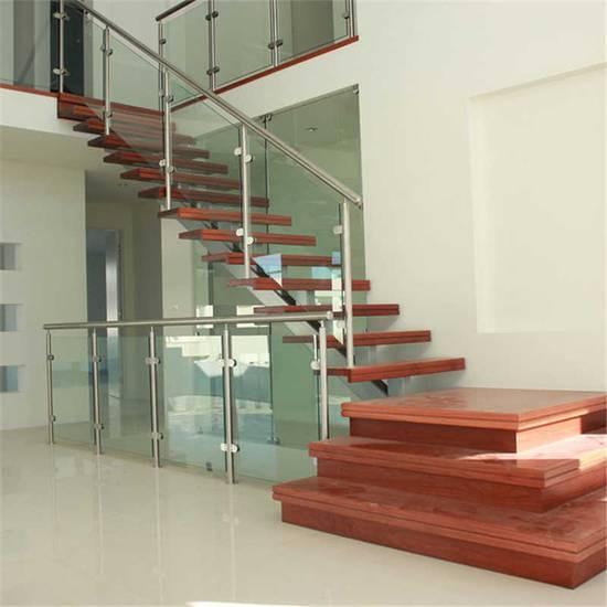 Стеклянная Г-образная лестница на заказ, ЛС-139